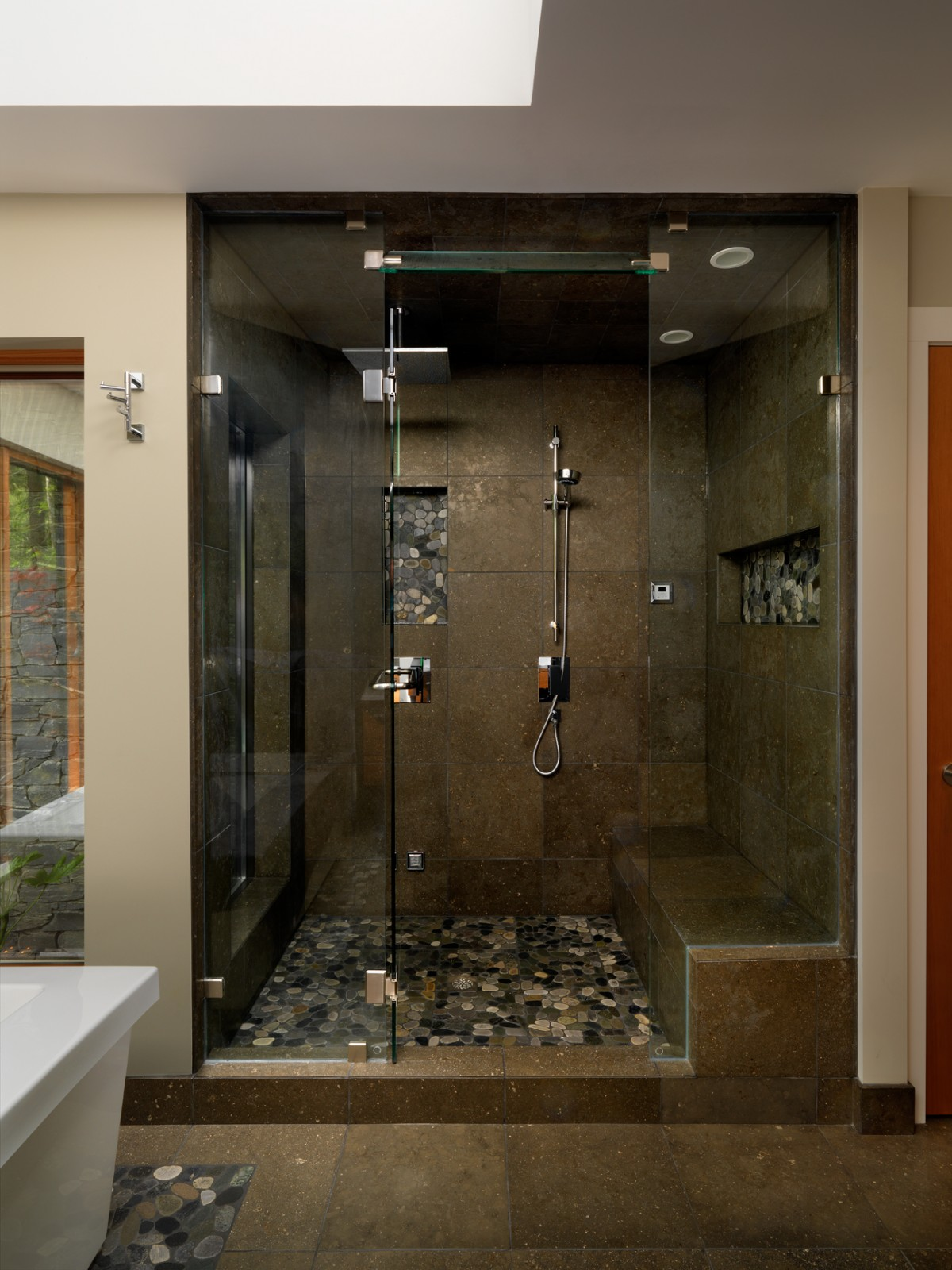 Front Elevation Of Bathroom : Touchstone keith baker design